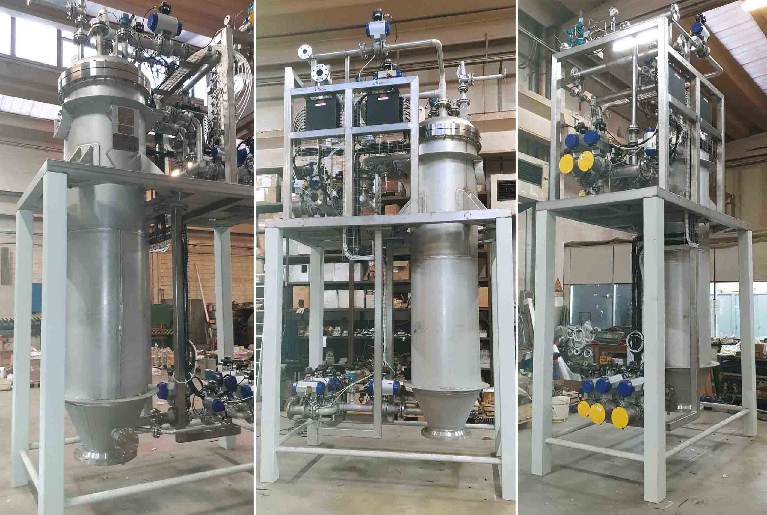 Filter system for PVC production